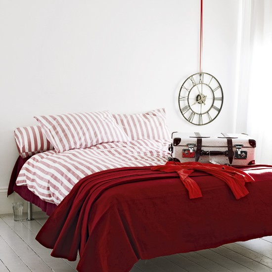 Vibrant red bedroom | Bold red colour schemes | Colour | PHOTO GALLERY | decorating ideas | Housetohome.co.uk
