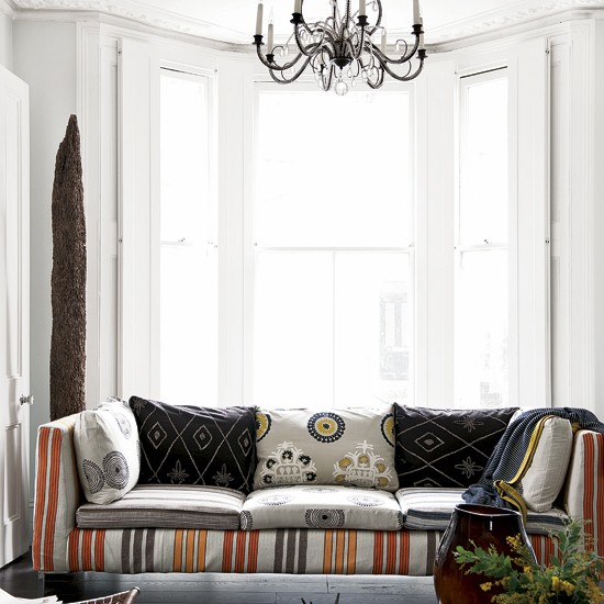 Modern tribal living room | Decorating with pattern | Image | Housetohome