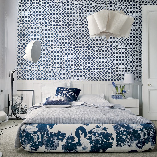 Blue and white bedroom - 8 ideas | Bedroom | Housetohome.co.uk