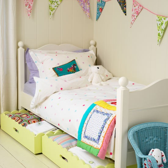Opt for under bed storage | Children's colourful bedroom | Children's room storage ideas | Childrens bedroom | Storage | PHOTO GALLERY | Housetohome