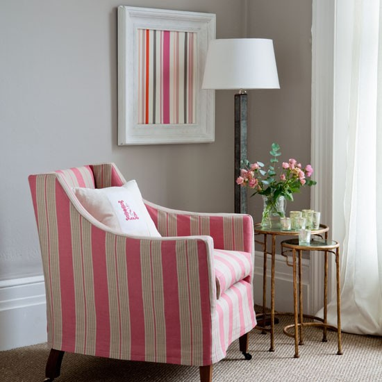 Classic striped armchair | Living rooms | Design ideas | Image | Housetohome