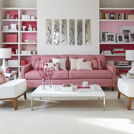 Pink living room | Image | Housetohome.co.uk