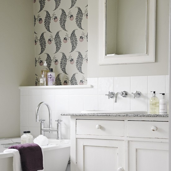 Textured Wallpaper For Bathrooms 2017: White Bathroom Wallpaper 2017