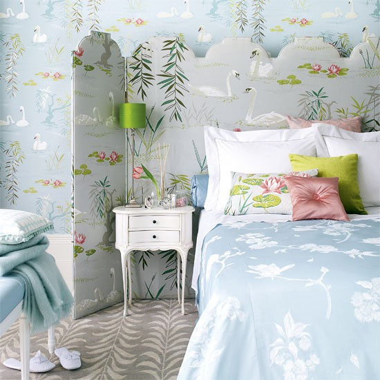 glamorous bedroom bedroom designs floral wallpaper housetohome