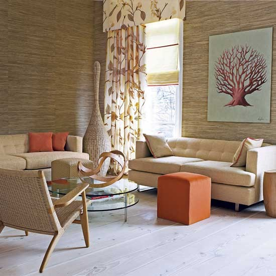Natural Living Room Housetohomecouk