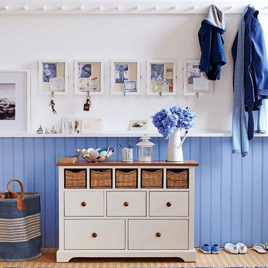 Blue coastal hallway | Hallway | Colour schemes | Decorating ideas | PHOTO GALLERY | Housetohome.co.uk