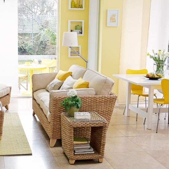 Yellow open-plan living room | Image | Housetohome.co.uk