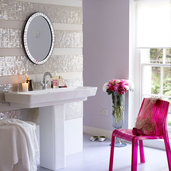 Wonderful 36 White Sparkle Bathroom Tiles Ideas And Pictures