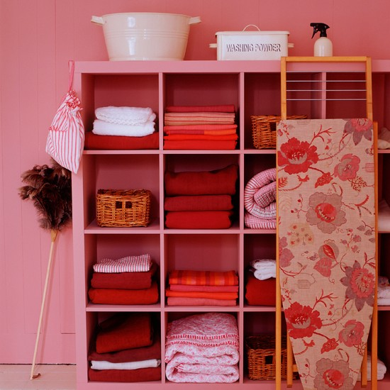 Laundry linen cupboard | Utility rooms | laundry room design ideas | PHOTO GALLERY