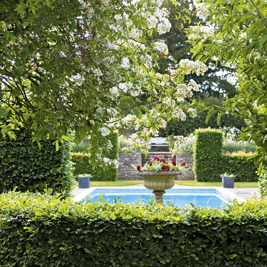 Take a tour around a beautiful english country garden for Garden near pool