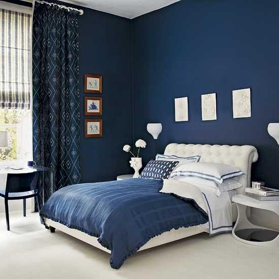 Blue Bedroom Best With Dark Blue Bedroom Walls Photos
