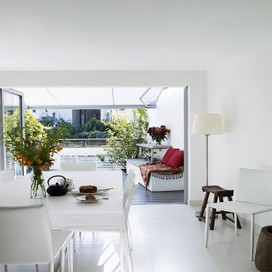 Bright white dining room | Dining room ideas | Image | Housetohome