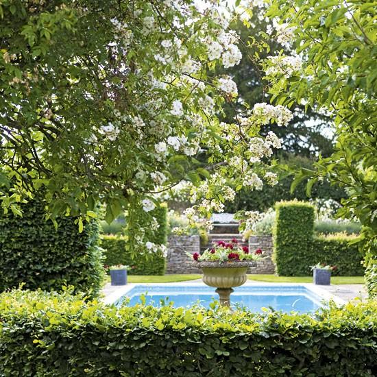 Garden ideas ideas for gardens plants flowers for Garden swimming pool uk