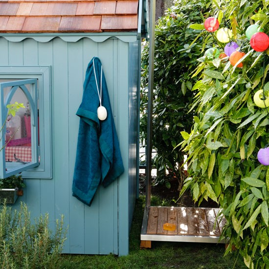 Outdoor shower in a country garden | Outdoor living | Garden | Design | PHOTO GALLERY | Housetohome.co.uk
