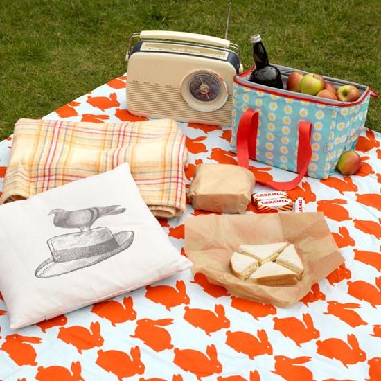 Modern garden picnic