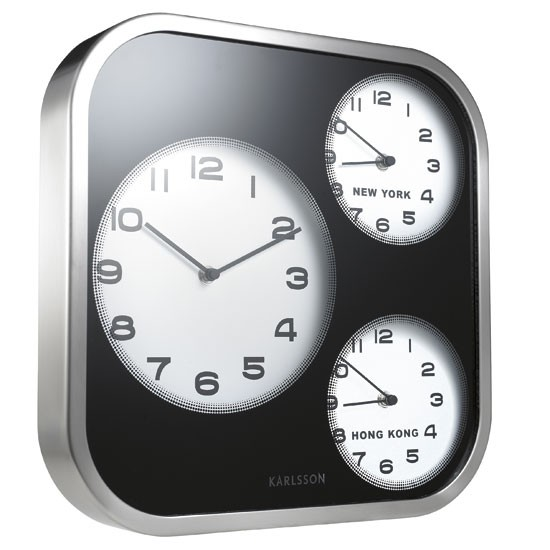 Timezone wall clock from John Lewis | Wall clocks for living rooms ...