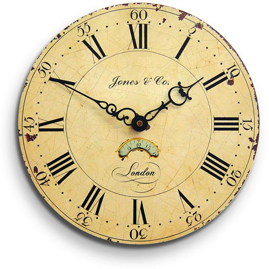 Jones colombus wall clock from homebase wall clocks for for Living room wall clocks