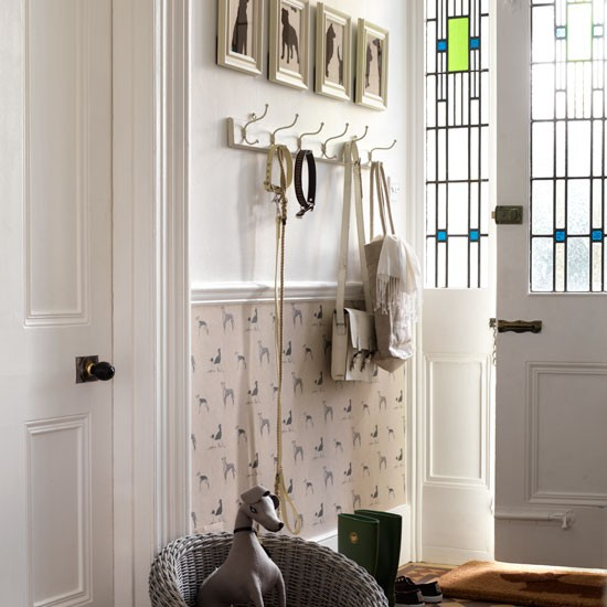 Dog themed Hallway Decorating Ideas Wallpaper