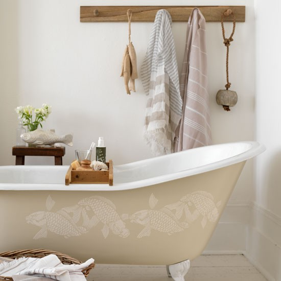 Natural-style bathroom | Bathroom decorating | image