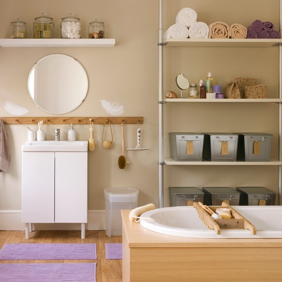 Bathroom storage | Bathroom decorating ideas | Bathrooms | Bathroom ideas | PHOTO GALLERY | Housetohome.co.uk