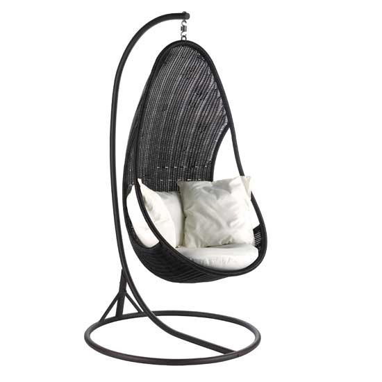 Soltera Tropica hanging egg shaped bedroom chair from B&Q ...