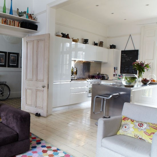 Open-plan White Kitchen