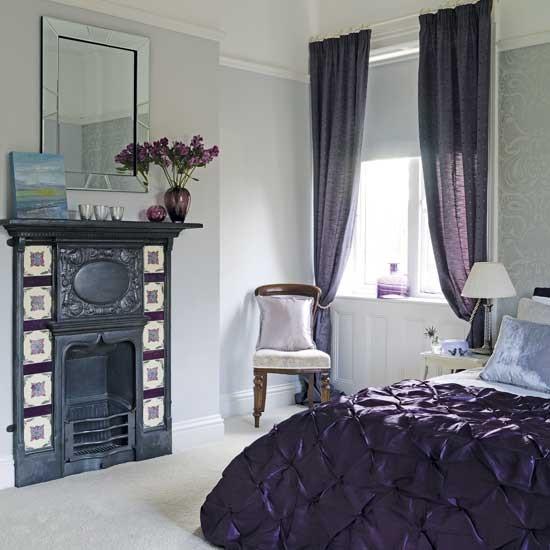 Luxurious purple bedroom | Bedroom decorating ideas | PHOTO GALLERY | housetohome