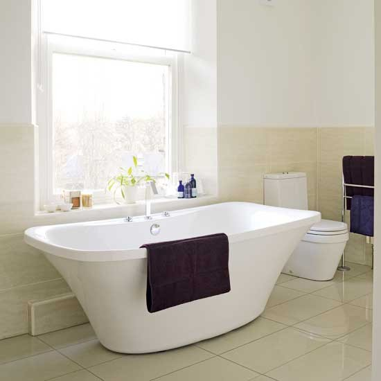 Neutral bathroom | Bathroom tiles | image