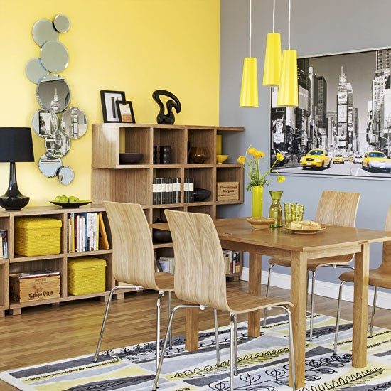 City-inspired dining room | Contemporary dining room | image
