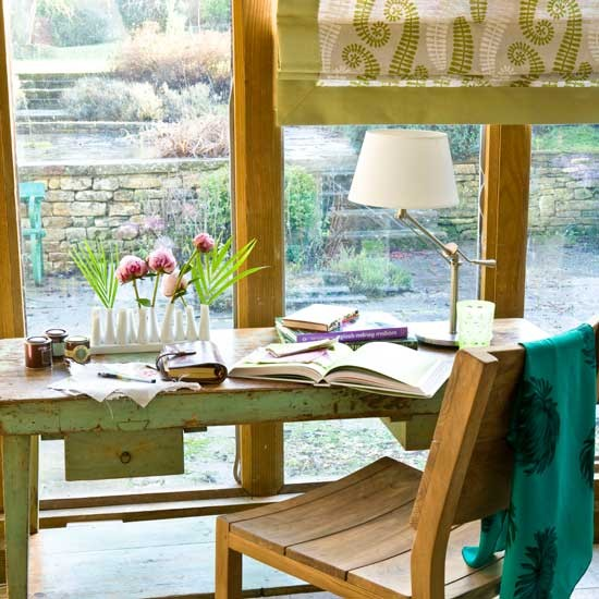 Country conservatory home office | Country-style home offices | home office | country-style decorating | image | housetohome.co.uk