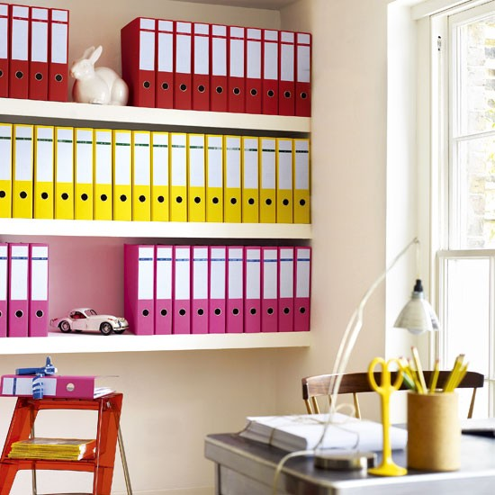 Home office with colourful storage | Modern home offices | Home office schemes | Contemporary home offices | SEE PHOTO GALLERY | Livingetc