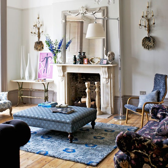 Eclectic living room | Living room decor | Image | Housetohome.co.uk