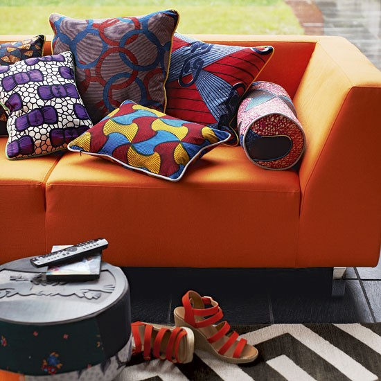 Vibrant living room sofa | Colourful living rooms | Image | Housetohome.co.uk