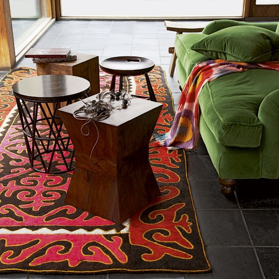 Tribal-inspired living room | Living room designs | Image | Housetohome.co.uk