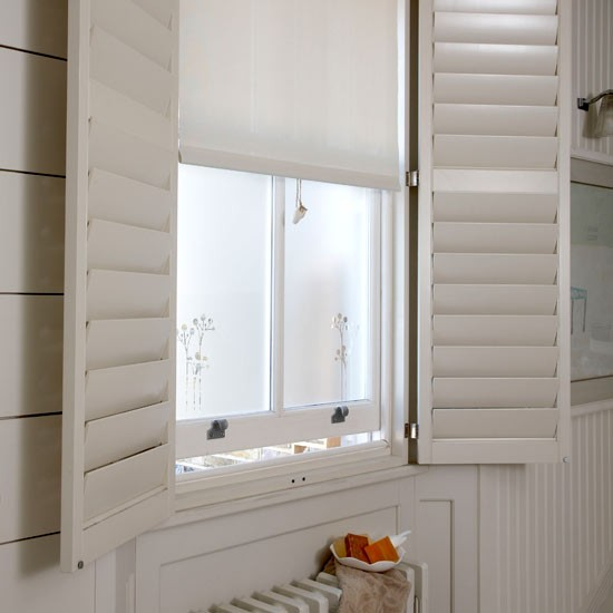 Bathroom shutters | Bathroom ideas | Bathroom design ideas | Bathroom | PHOTO GALLERY | Housetohome.co.uk