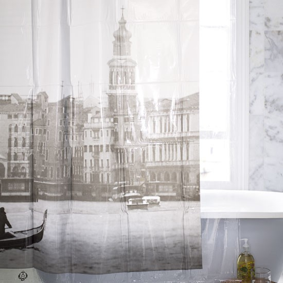 Modern shower curtain | Bathroom finishing touches | Bathroom accessories | PHOTO GALLERY | Housetohome