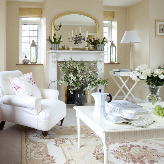 Classic country living room | Neutral living rooms | image