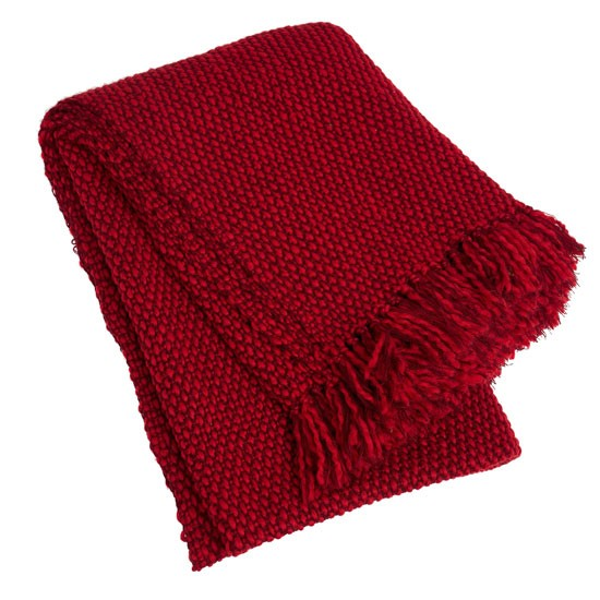 Red woven woollen throw from Debenhams Decorative throws  : rochajohn rocha red woven woollen throw from www.housetohome.co.uk size 550 x 550 jpeg 65kB