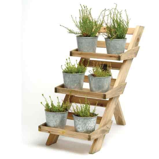 Wooden 3 tier pot stand from Garden Trading | Outdoor pots | Plant ...