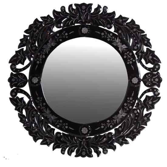 black venetian round mirror the lavender barn venetian