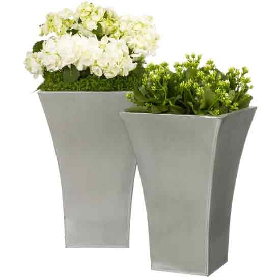 Flared Titanium planters from John Lewis | Outdoor pots | Plant ...
