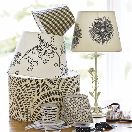 Transform an old lampshade into a stylish accessory