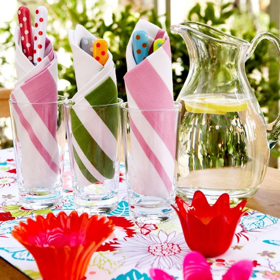 Colourful alfresco tableware