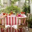 Colourful conservatory dining