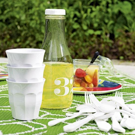 Colourful garden picnic
