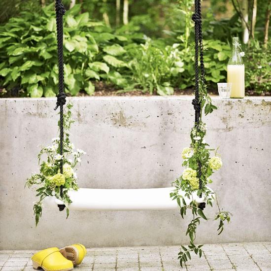 Pretty garden swing