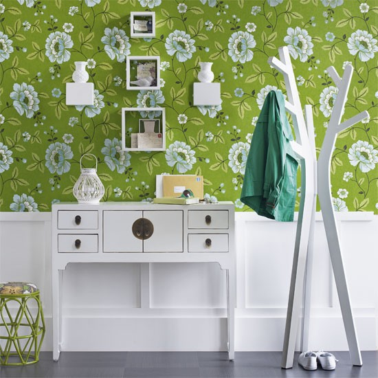 Vibrant hallway wallpaper | Hallway designs | Image | Housetohome.co.uk