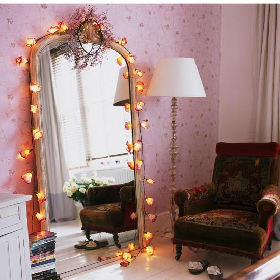 fairy lights teenage girls bedroom ideas. Black Bedroom Furniture Sets. Home Design Ideas