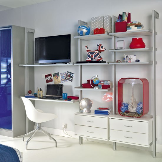 Bedroom Storage Shelving Unit » 5 Tier Unit White Ladder Wall ...