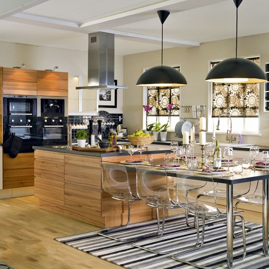 Glamorous kitchen-diner | Open-plan kitchens | Image | Housetohome.co.uk